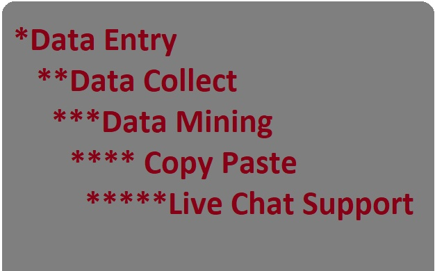 Data Entry,  Data Collect & Data Mining for 4 hours