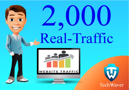 Give you 2,000 Real human Traffic for your website/bl...