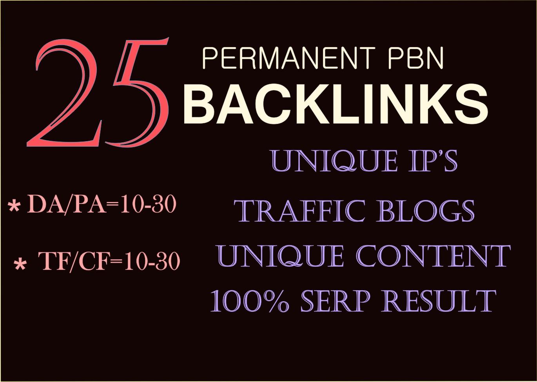 20 pbn back-links permanent high trust flow homepage ...