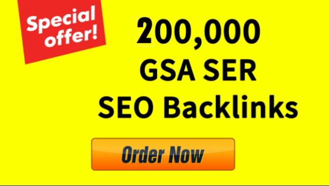 200,000 Gsa high-quality & Powerful SEO Backlink