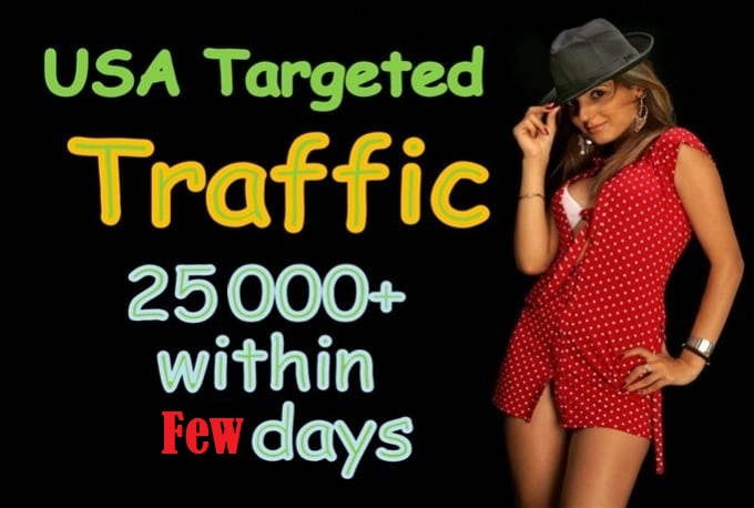 I will send 25000 targeted traffic from United State