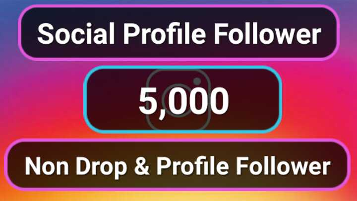 5,000+ High Quality Social Profile Followers in 2-3H Non Drop