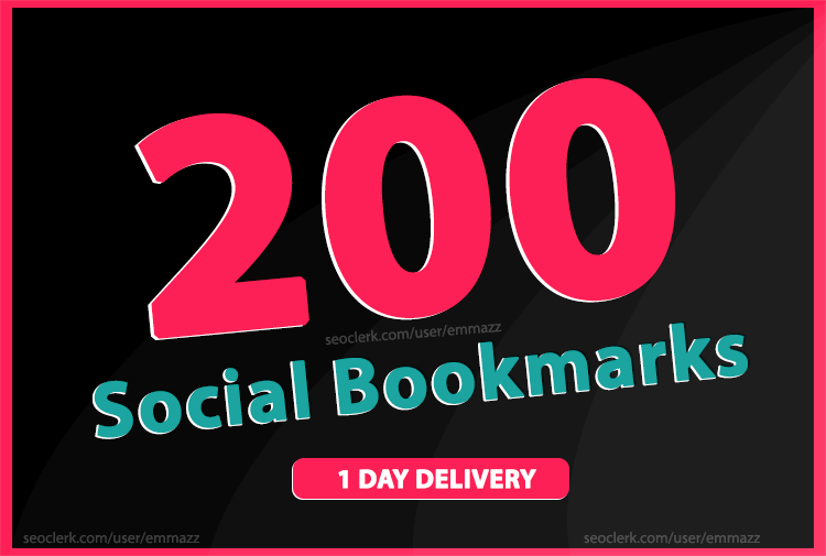 add 200 social bookmarking backlinks rank up your web...