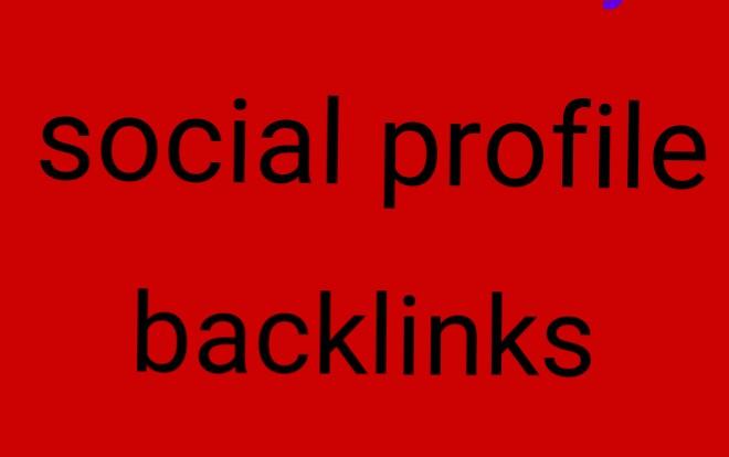 I create 35 manually social profile backlinks