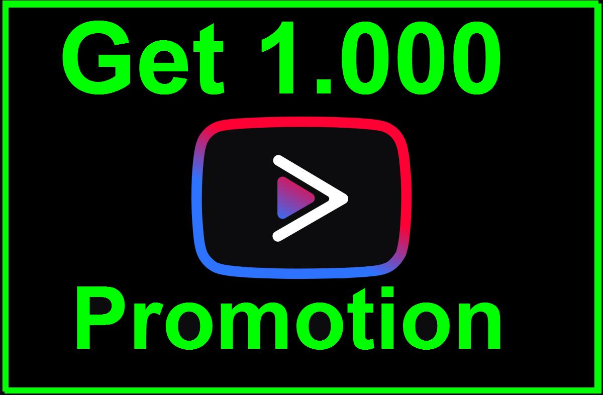 Get 1,000 Social Media Promotion Non-Drop Guaranted