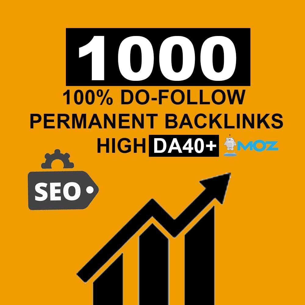 Create 1000 High DA40+ Do-Follow Backlinks (Mix Platforms)