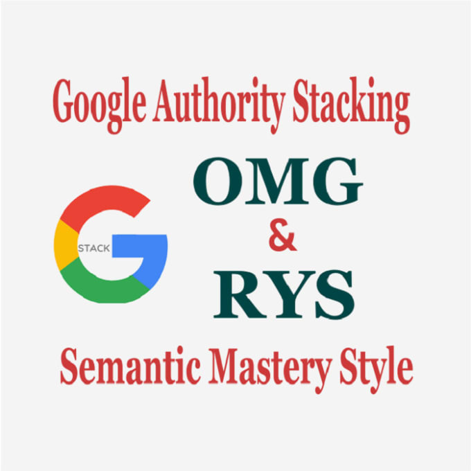 google 3 pack SEO stacking with rys and omg authority backlinks