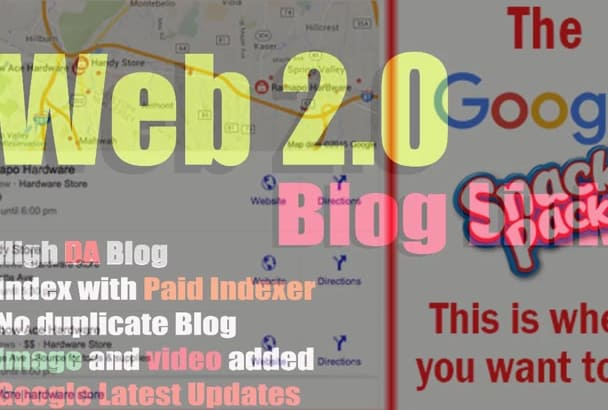 embed your google map in 1000 web20 high da blogs best for local SEO