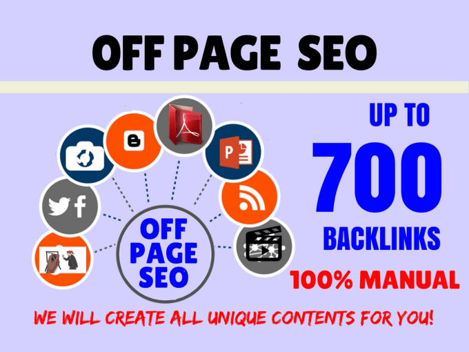 do complete offpage seo for your blog or url