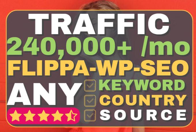 drive SEO geo target keyword desktop mobile social media traffic