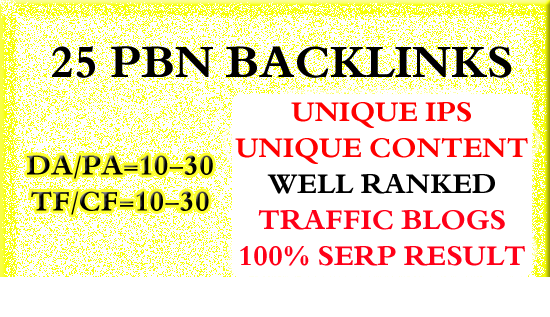 25 Homepage Pbn Backlinks High Tf Cf Da Pa Private Bl...