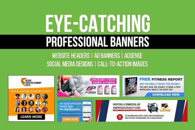 design awesome social media cover or website banner