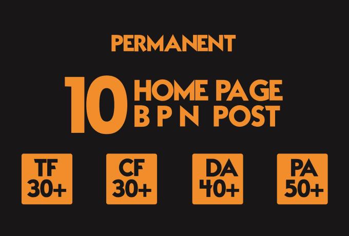 do 10 permanent pbn post tf 20 plus and da 40 plus backlinks