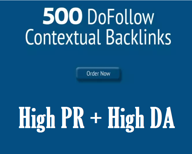 Manually Build 500 High Pr Contextual Backlinks Seo Dofollow and NoFollow Mix Platform