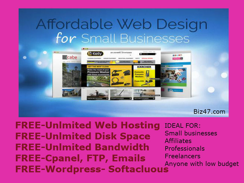 build website give 1 year web hosting free wordpress html