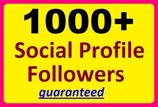 1000+ Social Media Profile Followers High-quality Promotion
