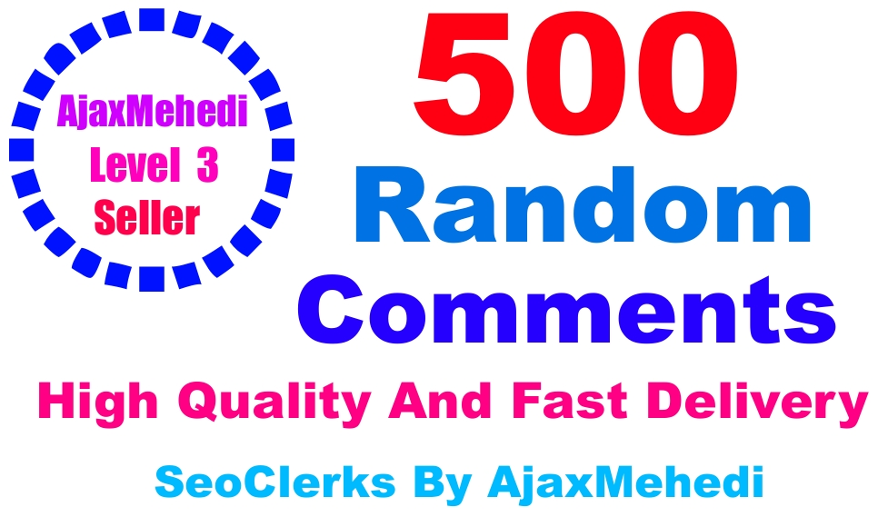 Make A Do Genuine Promotion 500 HighQuality English Speaking countries profiless Random Post Comments