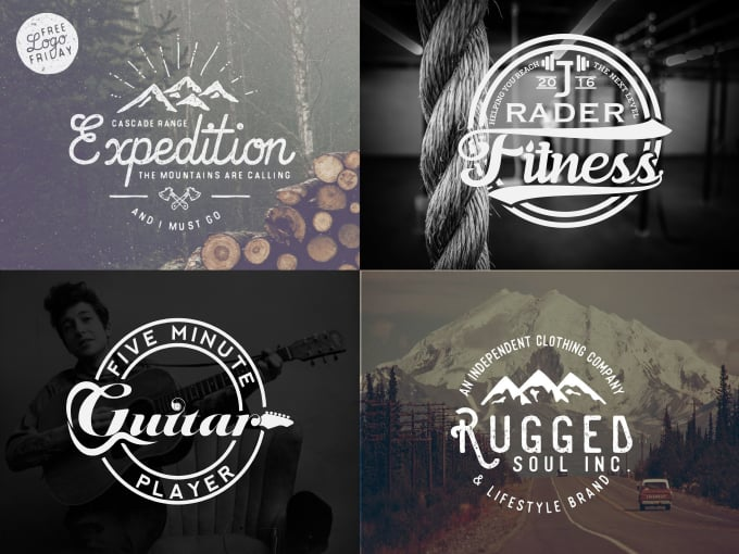 create 2 amazing vintage logo in 24 hour