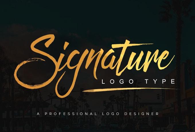 design handwritten or signature logo