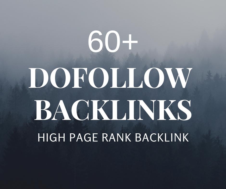 I will create 60 manually profile backlinks