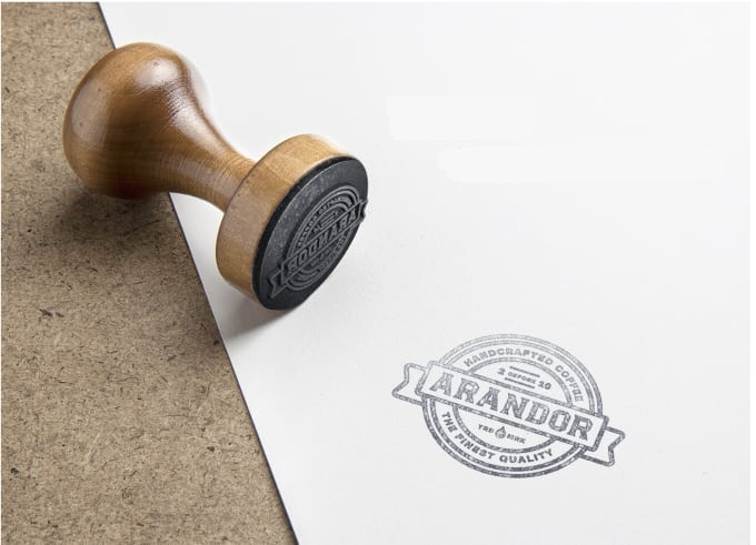 replicate your logo or text in digital rubber stamp