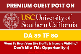 Guest Post On Usc Edu Blog for $20