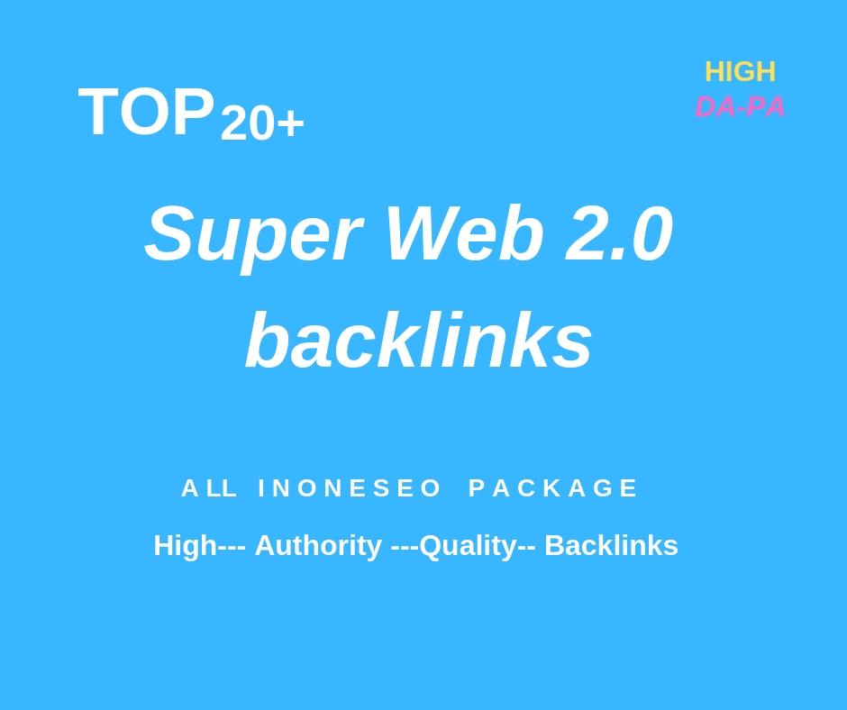 Create 20 Super Web 2 0 Links On High Dofollow Sites