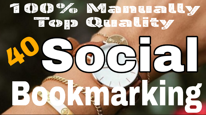 Manually 40 Social Bookmarking From Top Quality PR Sites