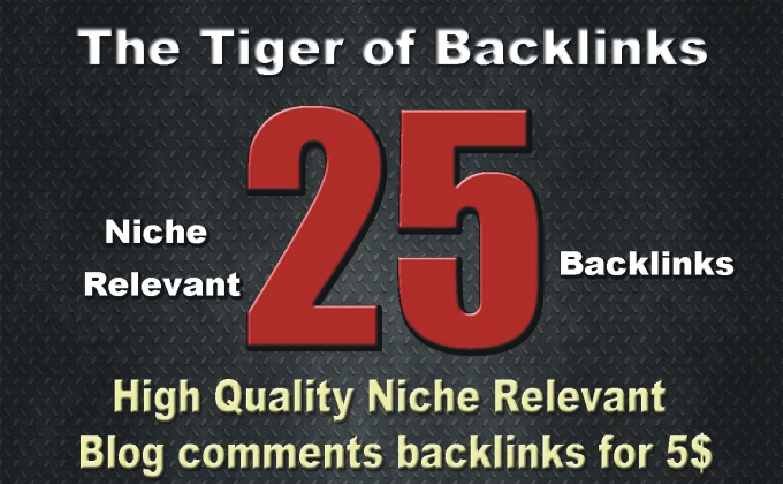 Do 25 High Quality Niche Relevant Backlinks