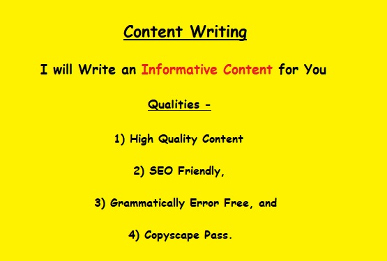 Write An Informative Content