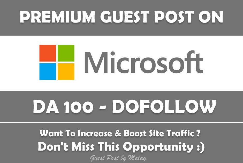 Microsoft Guest Post with Dofollow
