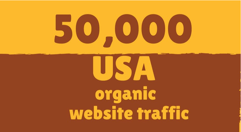 send 50,000 USA organic website traffic