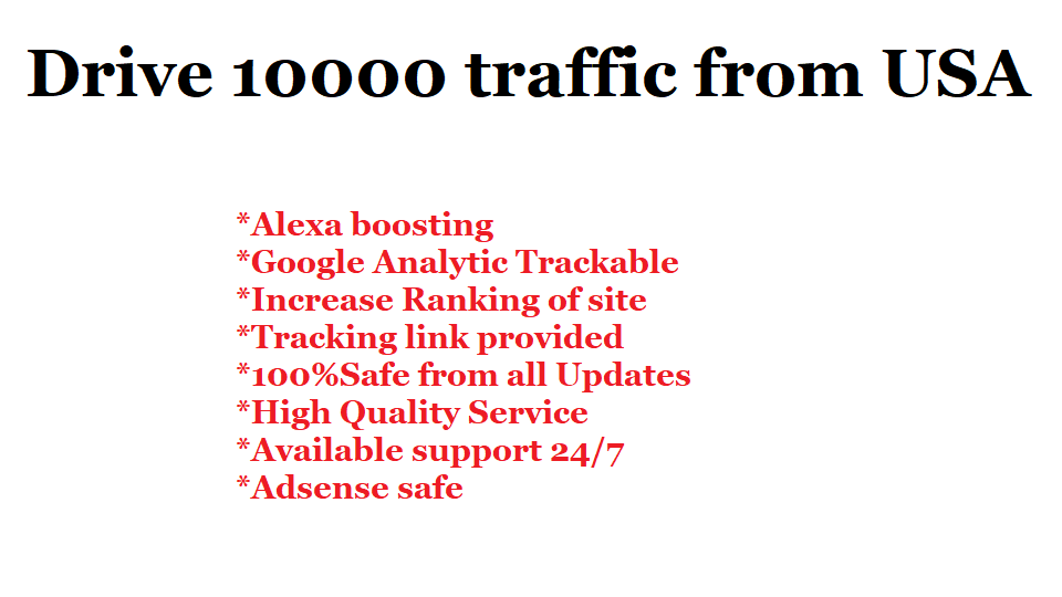 I will Drive 10,000 Traffic from USA