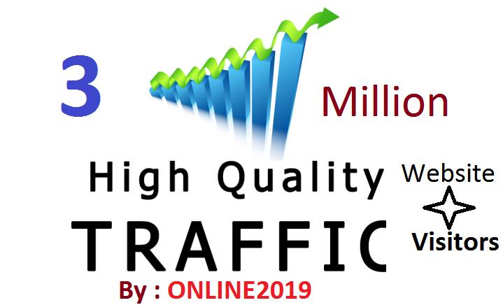 3 Million Worldwide Website Traffic Visitors For Online Marketing & Business Promotion Boost SEO Website Traffic & Share Bookmarks Improve Google Ranking Factors