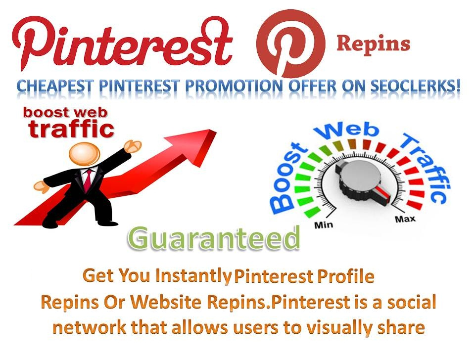 1000+ pinterest repins with world wide Repin increase your best traffic