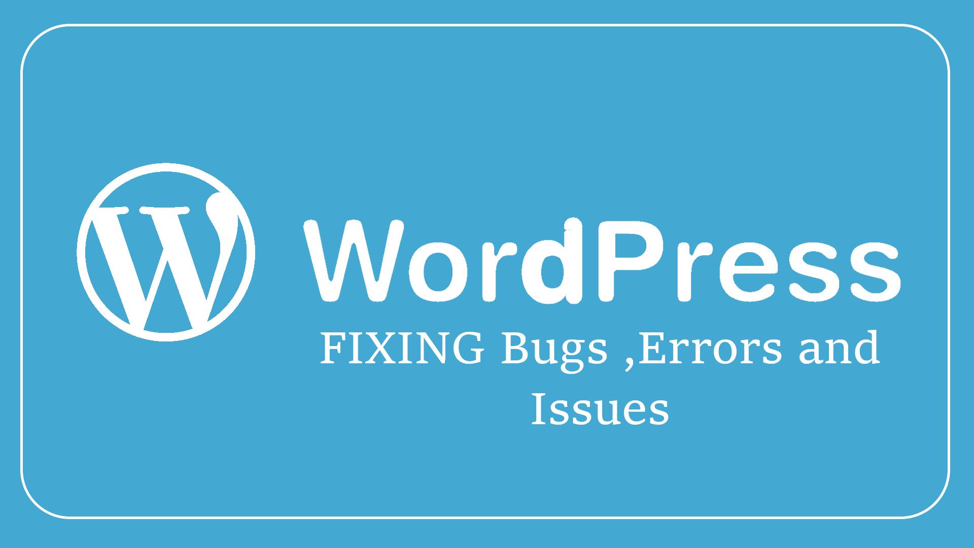 Fix up your wordpress bugs