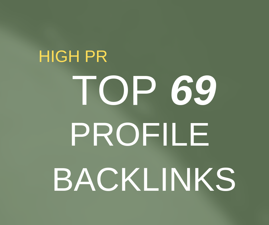 give you 69 USA High Quality Seo BackLinks