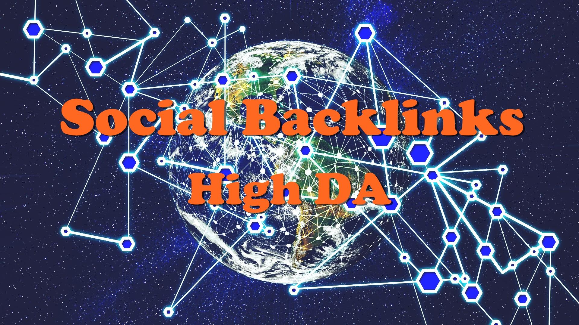 Manual 30 Social Backlinks High DA and Dofollow