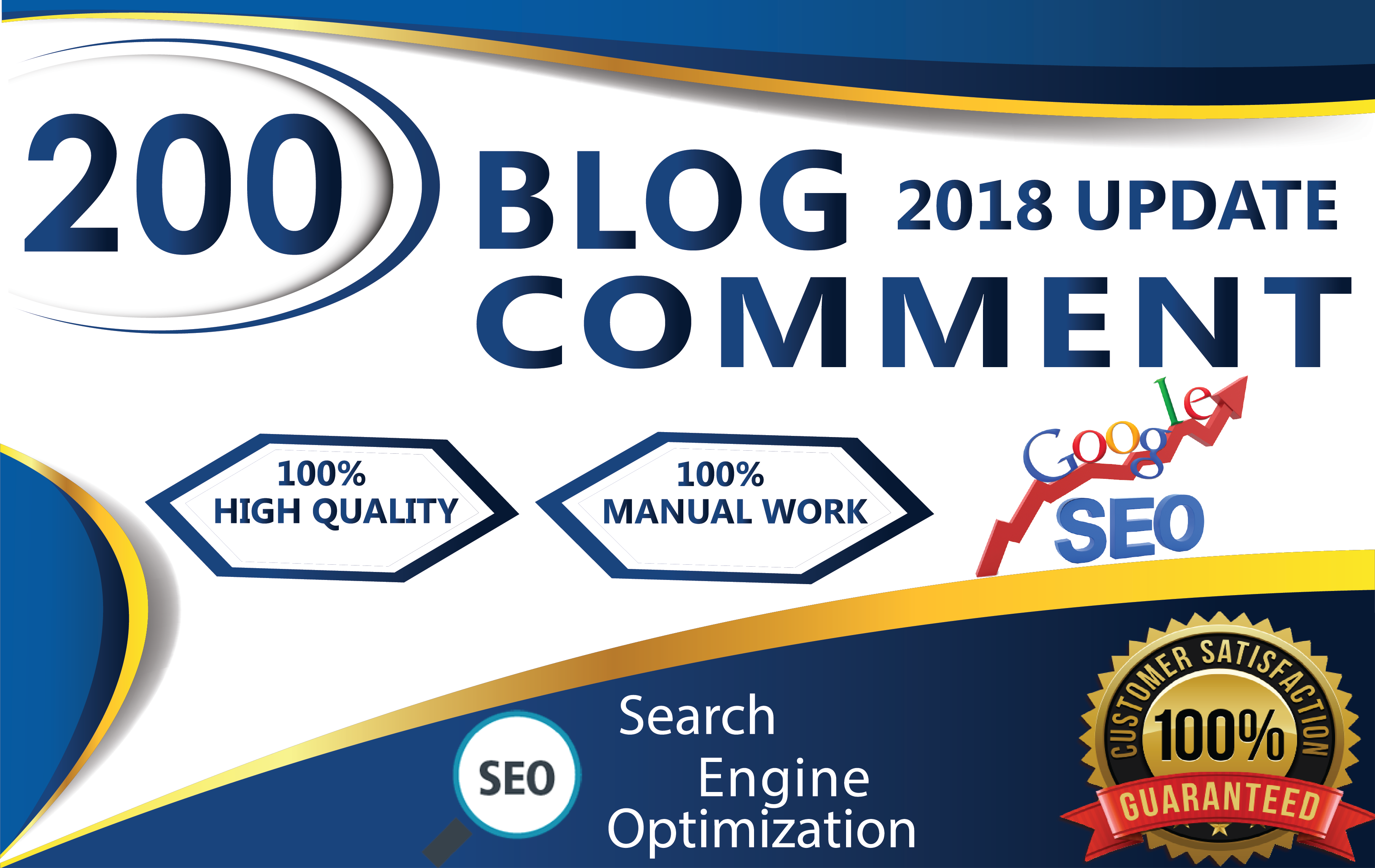 I Manual Work 200 Dofollow Blog Comments Seo Backlink...