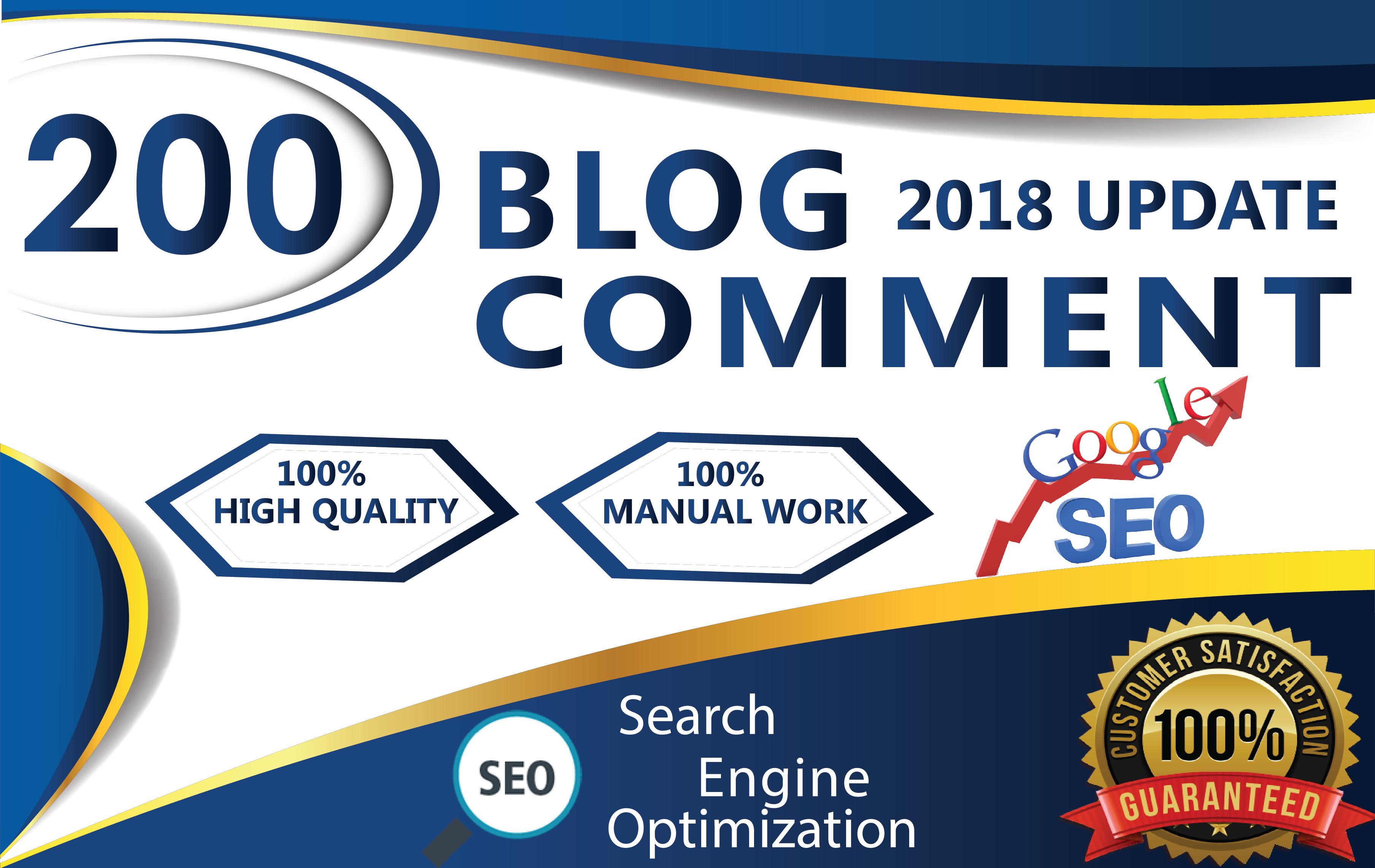 I Manual Work 200 Dofollow Blog Comments Seo Backlinks