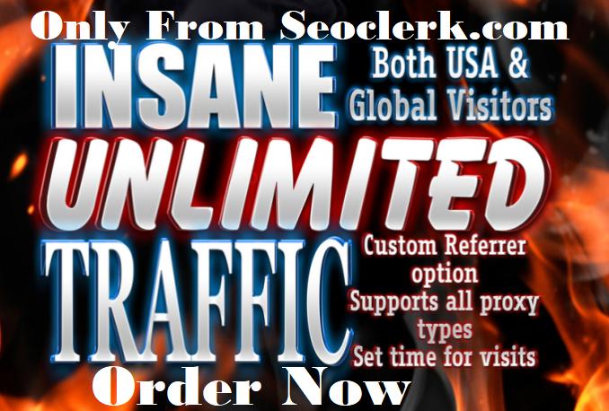 providing USA unlimited Keyword target website traffi...