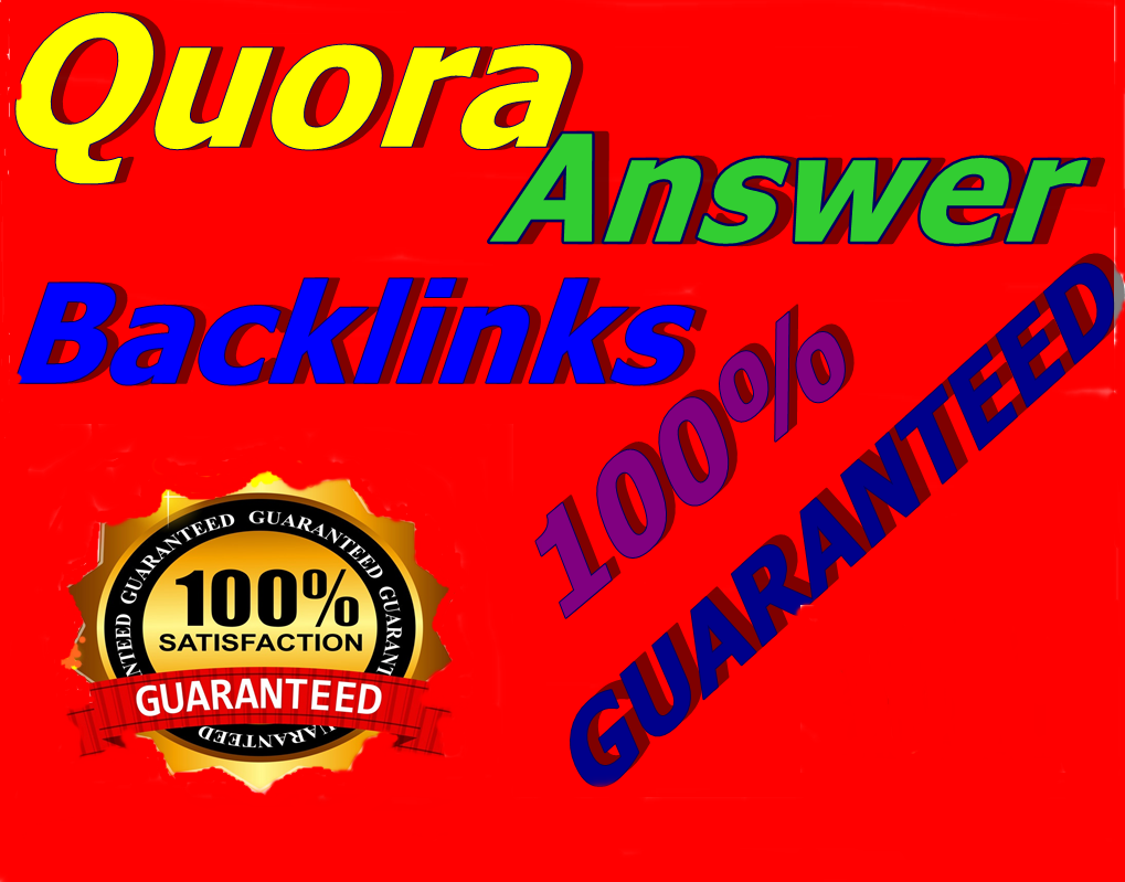 Quora Backlink 12 Guaranteed Quora Answere with unique articles for Ranking Your Website
