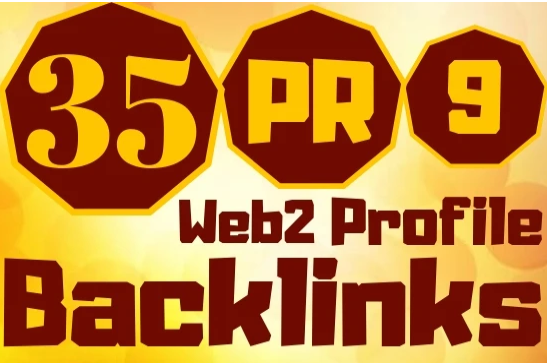 create 35 web2, 0 profile backlinks high pr links for your website