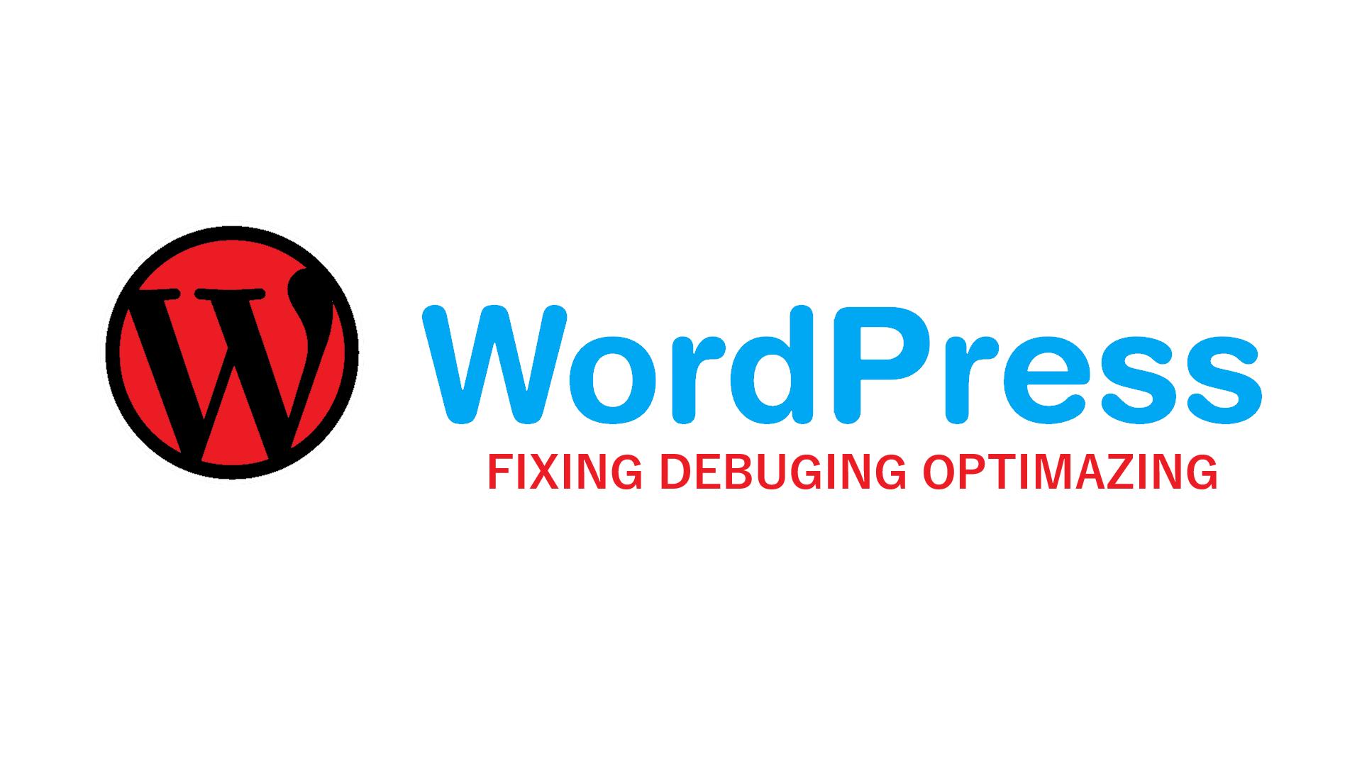 Fix Wordpress Website Errors And Issues