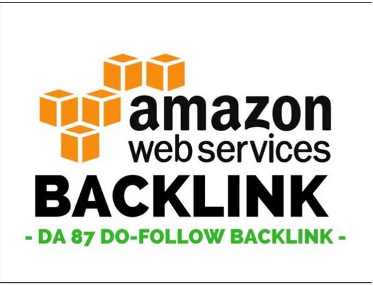 Create amazon web services guestpost dofollow backlink