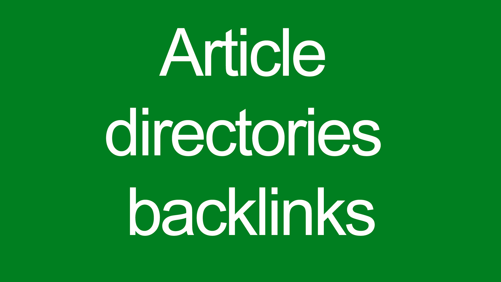 Article directories backlinks contextual backlinks 20...