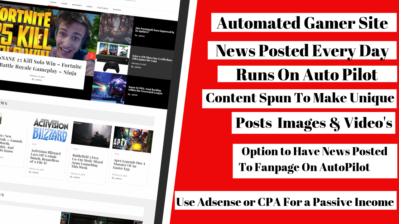 Build A Automated Gamer Site With Traffic Solution