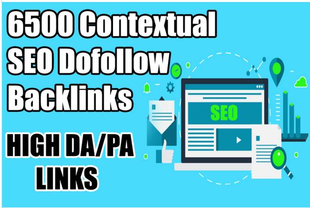 create 6500 contextual SEO dofollow tiered backlinks