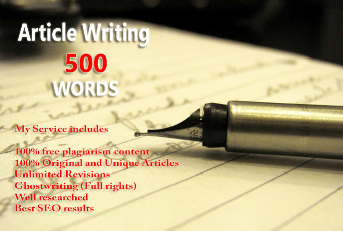 Will Give You 13 Articles of 500 words each, Pass Copyscape and SEO Optimized