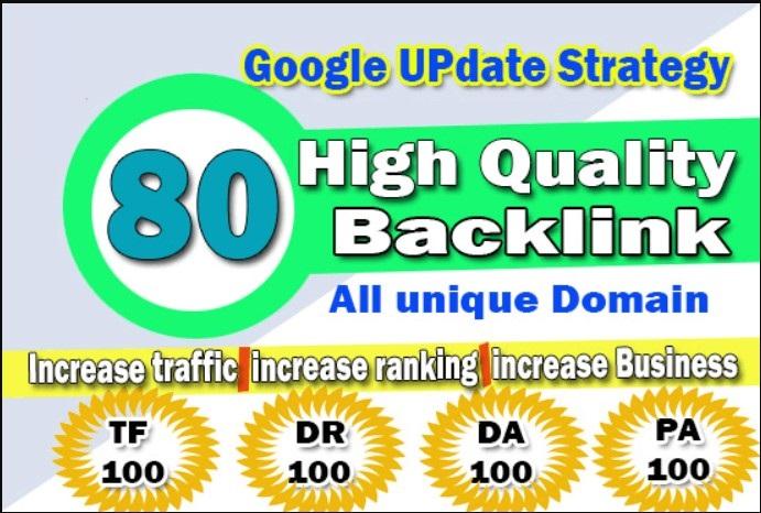 80 UNIQUE SEO BackIinks on DA100 Websites Plus Edu Ba...